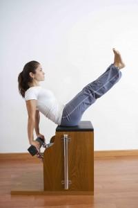 Carmen practicando pilates wunda