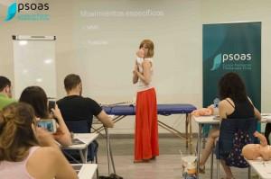 Alicia Fernández durante el curso de osteopatía pediátrica