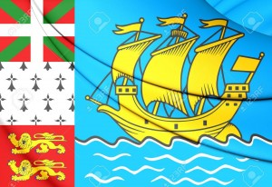 Bandera de Saint Pierre and Miquelon, France.