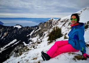 fisioterapeuta en estación de ski